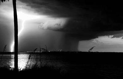 Lightning Bolt Photograph - Super Cell Over Tampa Bay by David Lee Thompson