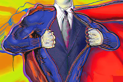 Painting - Super Dad by Tony Rubino