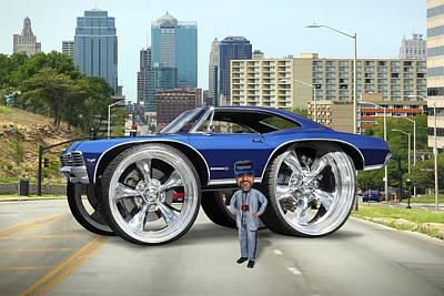 Car Jacking Photograph - Super Duper Big Wheels by Mike McGlothlen