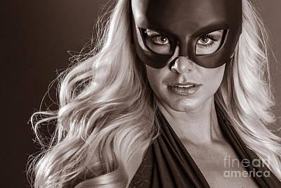 Comic. Marvel Photograph - Super Hero Girl by Jt PhotoDesign