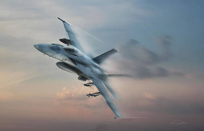 Dramatic Digital Art - Super Hornet by Peter Chilelli