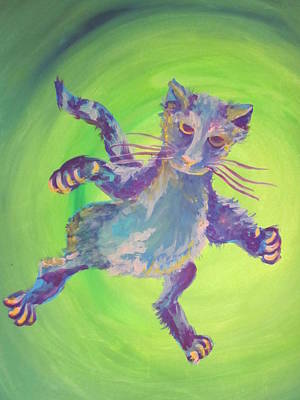 Painting - Super Kitty by Cherie Sexsmith