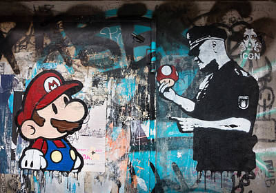 Graffiti Photograph - Super Mario by Pedro Nunez