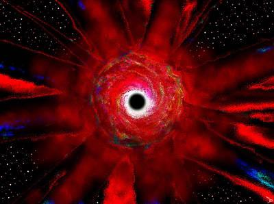 Super Massive Black Hole Art Print by David Lee Thompson