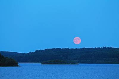 Photograph - Super Moon 7/4/2014 1 by Michael Saunders