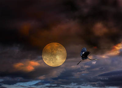 Super Moon 2013 Print by Angela A Stanton