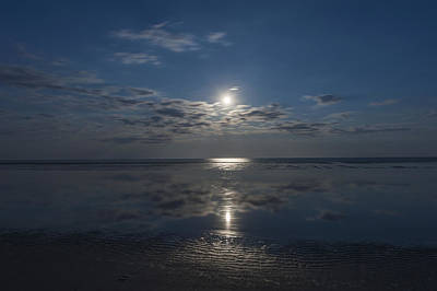 Mellow Yellow - Super Moon Burst Sea Isle City NJ  by Terry DeLuco