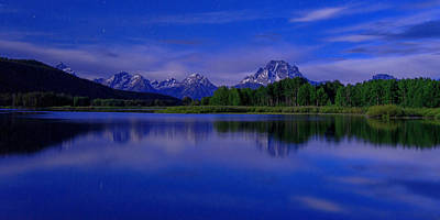 Grand Tetons Wall Art - Photograph - Super Moon by Chad Dutson
