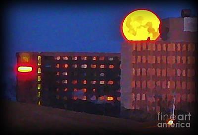 Art In Halifax Digital Art - Super Moon In Halifax Nova Scotia by John Malone