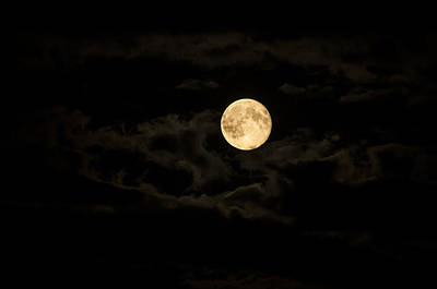 Super Moon Art Print by Spikey Mouse Photography