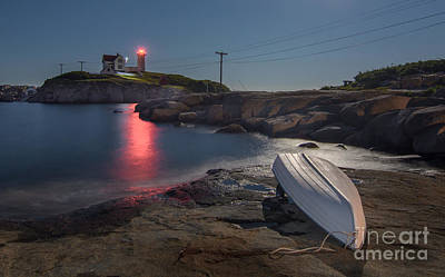Super Moon Over Nubble Art Print by Scott Thorp
