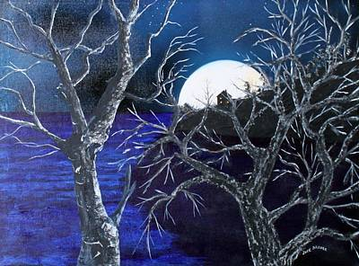 Painting - Super Moon Rise by Jack G  Brauer