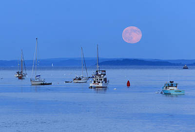 Photograph - Super Moon Rising In Maine by Barbara West
