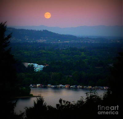 Photograph - Super Moon River by Susan Garren