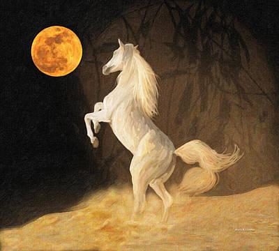 Super Moonstruck Art Print by Angela A Stanton