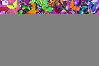 Super Rainbow Butterflies Art Print by Alixandra Mullins