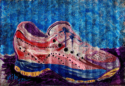 Cardboard Mixed Media - Super Shoe by Art By Miko