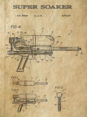 Super Soaker Patent Art 1991 Art Print
