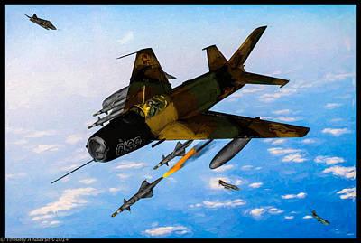 Mcdonnell Douglas F-4 Phantom Ii Digital Art - Super Sonic Duel - Oil by Tommy Anderson