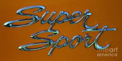 Photograph - Super Sport Badge by Mark Spearman