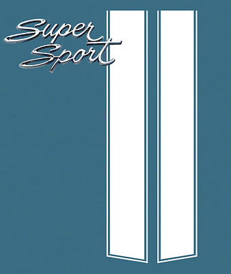 Digital Art - Super Sport Blue by Gabe Arroyo