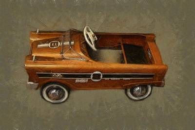 Super Sport Pedal Car Art Print by Michelle Calkins
