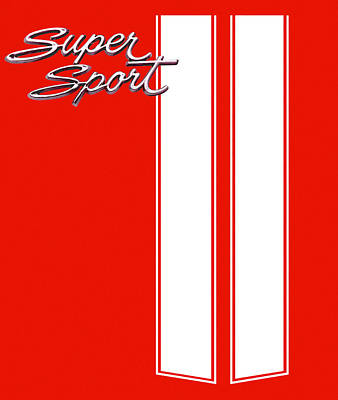 Digital Art - Super Sport Red by Gabe Arroyo
