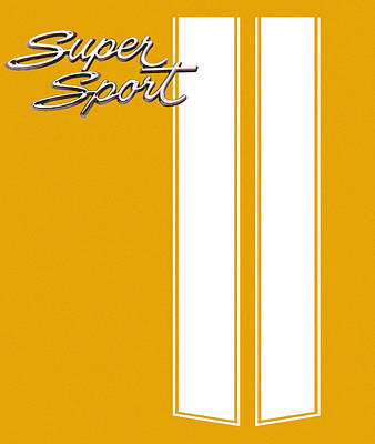 Digital Art - Super Sport Yellow by Gabe Arroyo