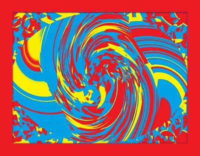 Art Print featuring the painting Super Swirl by Catherine Lott