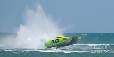 Photograph - Superboats - Miss Geico by Bradford Martin