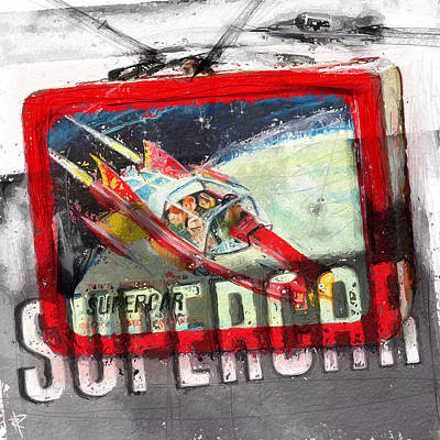 Science Fiction Mixed Media - Supercar by Russell Pierce