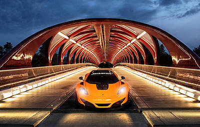 Calgary Digital Art - Supercar Sentinel by Peter Chilelli