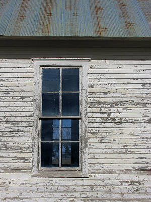 Photograph - Superior Schoolhouse Window by Rod Seel