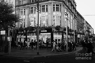 Supermacs Fast Food Restaurant Oconnell Street Dublin Republic Of Ireland Art Print by Joe Fox