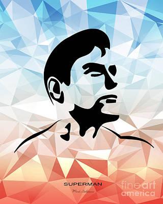 Caricature Digital Art - Superman 10 by Mark Ashkenazi