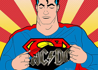 Caricature Digital Art - Superman 9 by Mark Ashkenazi
