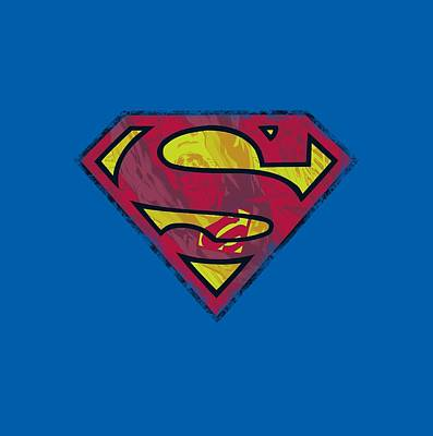 Superman Wall Art - Digital Art - Superman - Action Shield by Brand A