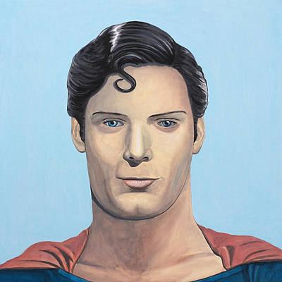 Alejandro Painting - Superman by Alejandro Iturralde Arquiola