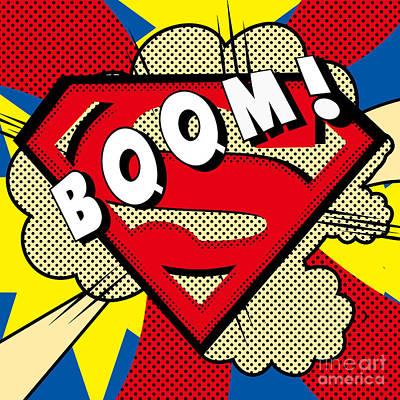 Superman Boom  Art Print