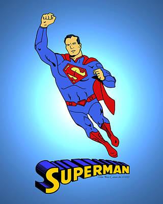 Dc Comics Drawing - New 52 Superman Classic by Mista Perez Cartoon Art
