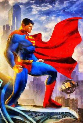 Painting - Superman by Elizabeth Coats
