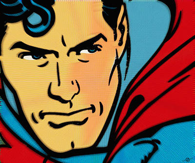Superman Pop Art Print by Tony Rubino