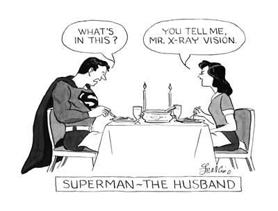Superman - The Husband Art Print by Edward Frascino
