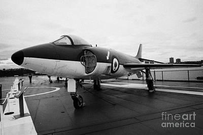 Supermarine F 1 F1 Scimitar On Display On The Flight Deck At The Intrepid Sea Air Space Museum  Art Print