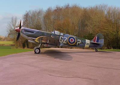 Photograph - Supermarine Spitfire Hf Mk. Ixe Mj730 by Paul Gulliver