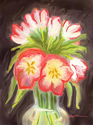 Painting - Supermarket Tulips by Jean Pacheco Ravinski