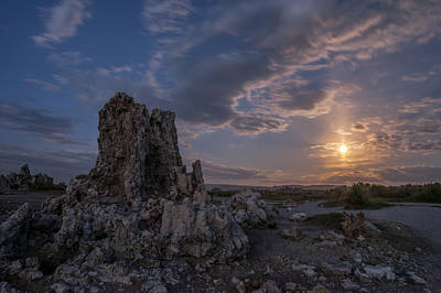 Supermoon Photograph - Supermoon At Mono Lake by Cat Connor
