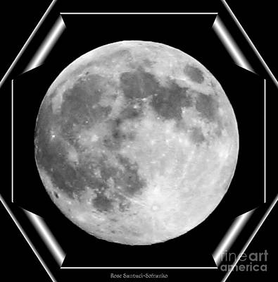 Photograph - Supermoon In Black And White by Rose Santuci-Sofranko