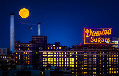 Supermoon Photograph - Supermoon Over Baltimore by Geoffrey Baker