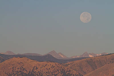 James Insogna Photograph - Supermoon Over Colorado Rocky Mountains Indian Peaks by James BO  Insogna